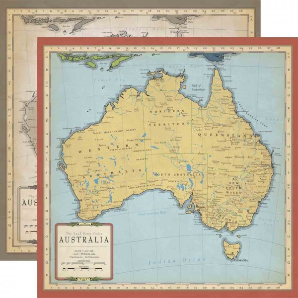 Carta Bella Cartography No. 1 Australia Map