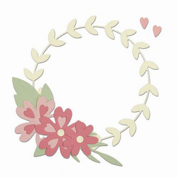 Sizzix Thinlits Floral Wreath
