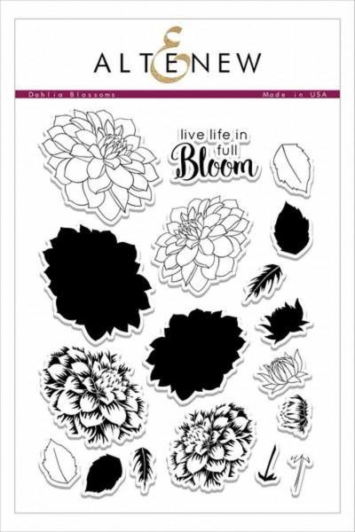 Altenew Clearstempel Set Dahlia Blossoms