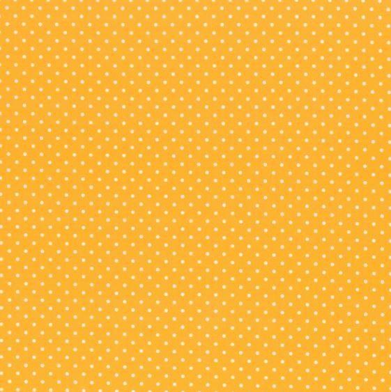 Baumwollstoff Timo Punkte gelb