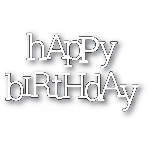 Poppystamp Stanzdie - Playful Happy Birthday