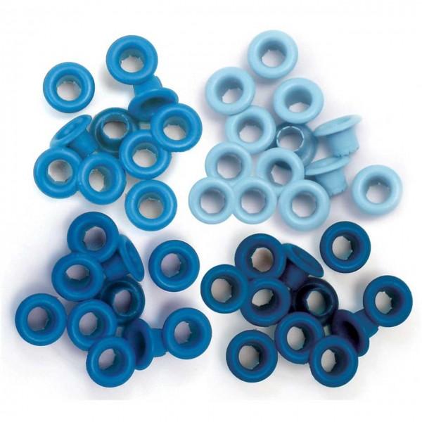 WeR memory Keepers Eyelets/Oesen blau