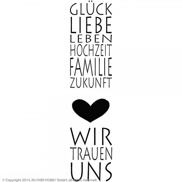 Holzstempel Glück & Liebe