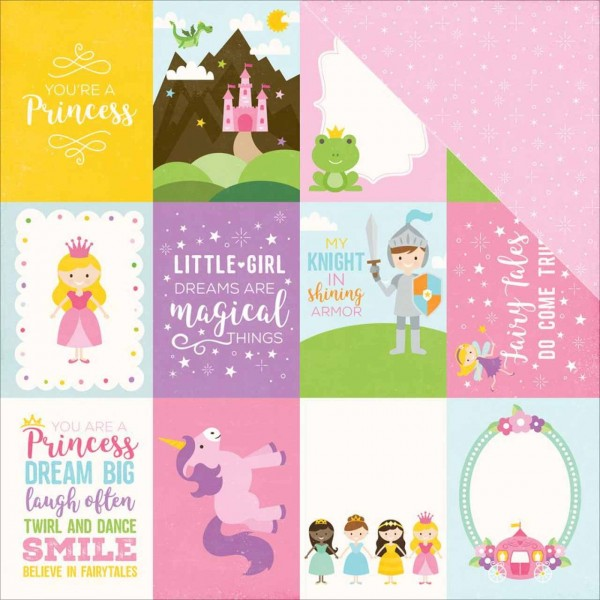 Echo Park Perfect Princess Journaling cards