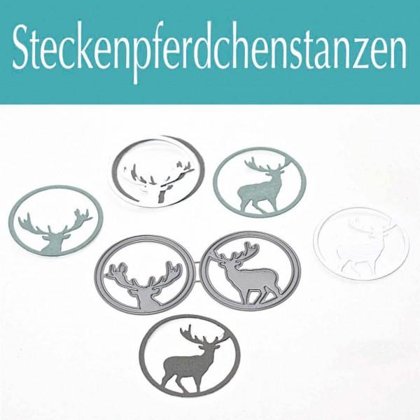 Steckenpferdchenstanze Hirsche im Kreis