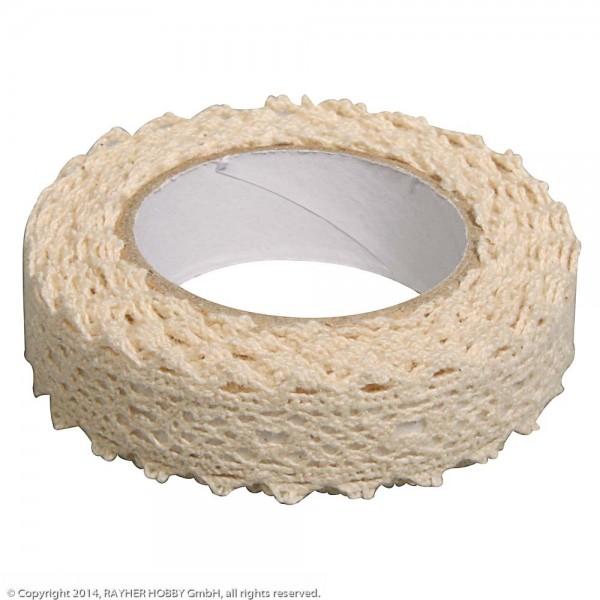 Rayher Fabric Tape Spitzenbordüre creme