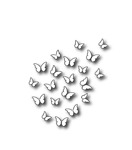Memory Box Steel Craft Die Peaceful Butterfly Wings
