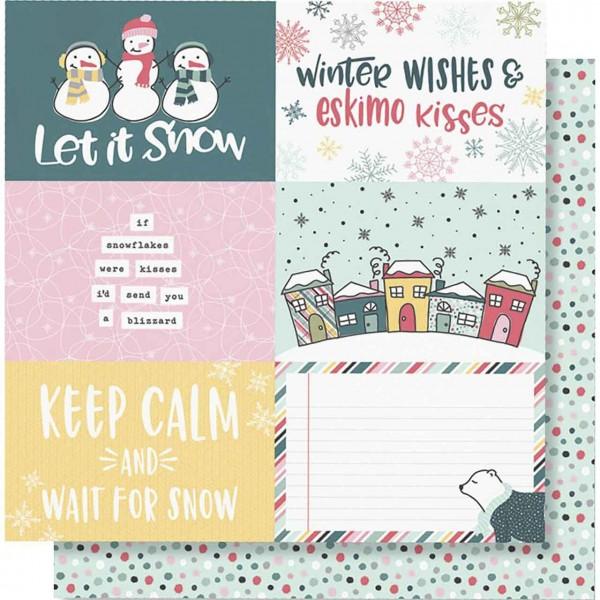 Simple Stories Freezin Season 4 x 6 horizontal elements