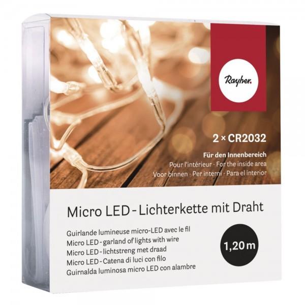 Rayher micro LED-Lichterkette mit Draht