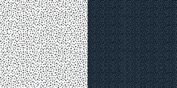 Dini Design Papier kleine Punkte/Blumen Mitternacht