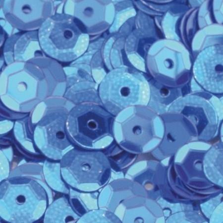 Pailletten rund gewölbt blau