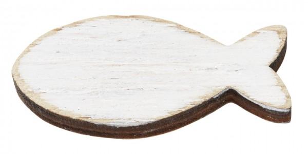 Holz-Fische weis