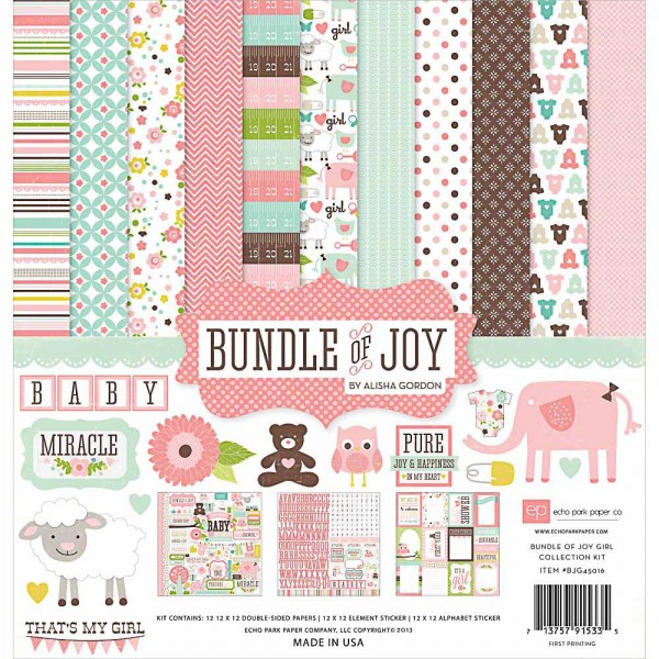 Echo Park Bundle of Joy Girl Collection Kit