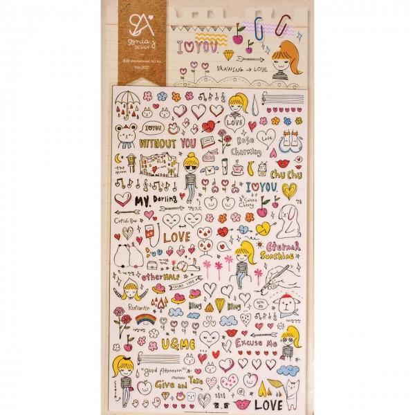 Sticker drawing love