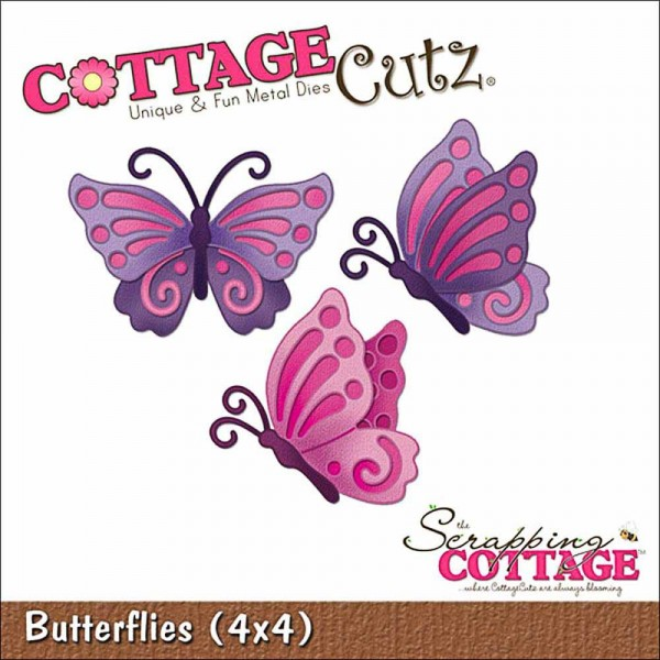 Scrapping Cottage Cutz 4x4 inch Butterflies