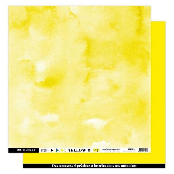 Florileges Yellow Uni 3 JAUNE SOLEIL