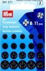 Prym Annäh-Druckknöpfe schwarz 6 - 11 mm