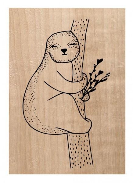Chou & Flowers Holzstempel LE PARESSEUX