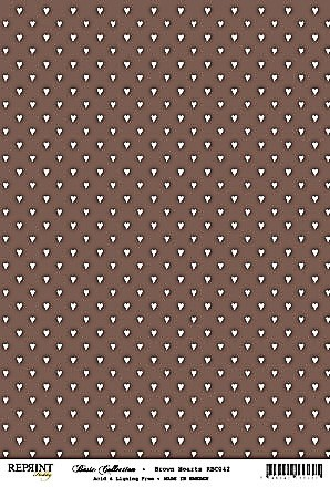 Reprint Hobby Basic Collection Brown Hearts