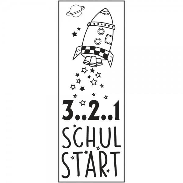 Rayher Holzstempel 3..2..1 Schulstart