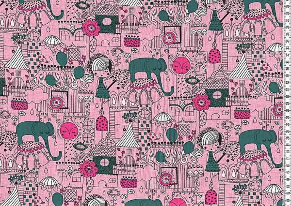 Baumwollstoff Nancy pink