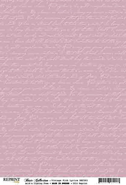 Reprint Hobby Basic Collection Vintage Pink Lyrics