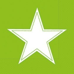 Paper+Design Lunchservietten simply Star kiwi