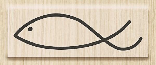 Knorr Prandell Holzstempel Fisch modern