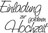 Knorr Holzstempel Einladung zur goldenen Hochzeit