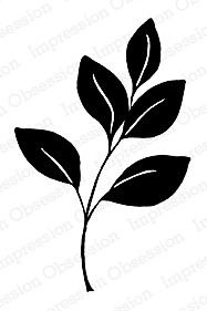 Impression Obsession Holzstempel Large Solid Leaf Stem