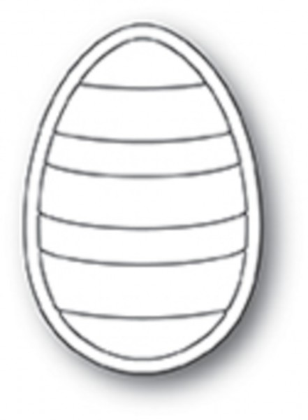 Poppystamps Stanzdie striped egg