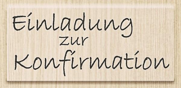 Knorr Prandell Holzstempel Einladung zur Konfirmation