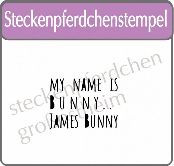 Steckenpferdchenstempel James Bunny