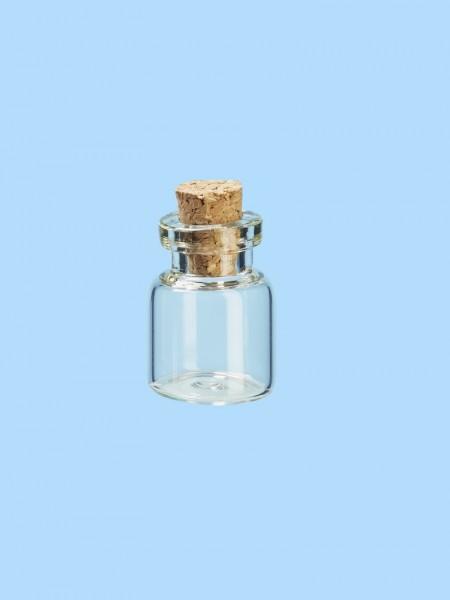 Hobby Fun Mini Glasröhrchen mit Kork