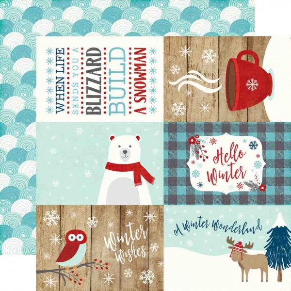 Echo Park A Perfect Winter 4 x 6 journaling cards