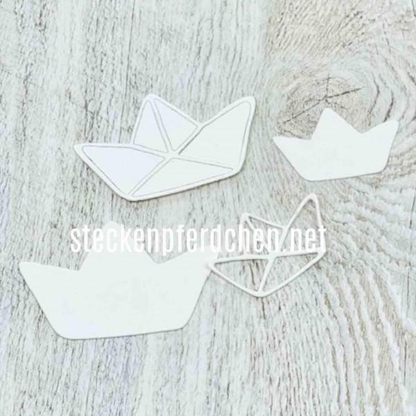 Steckenpferdchenstanze Origami Boote