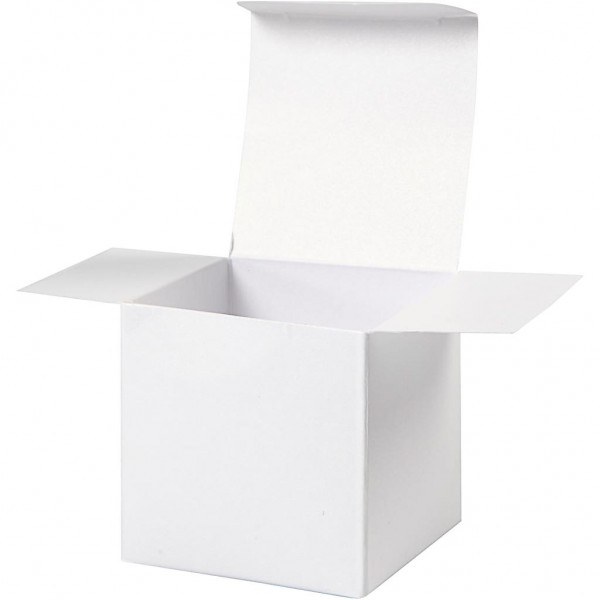 Folding box white perlmutt