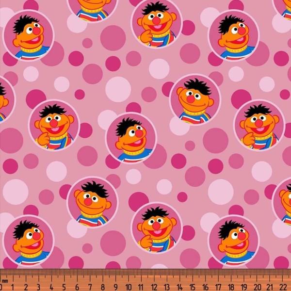 Baumwolljersey Digitaldruck Ernie pink