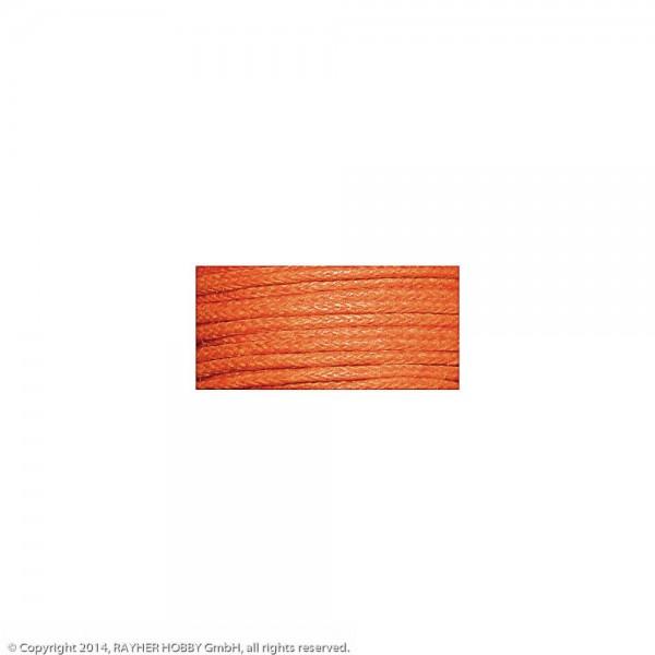 Baumwollkordel, gewachst orange