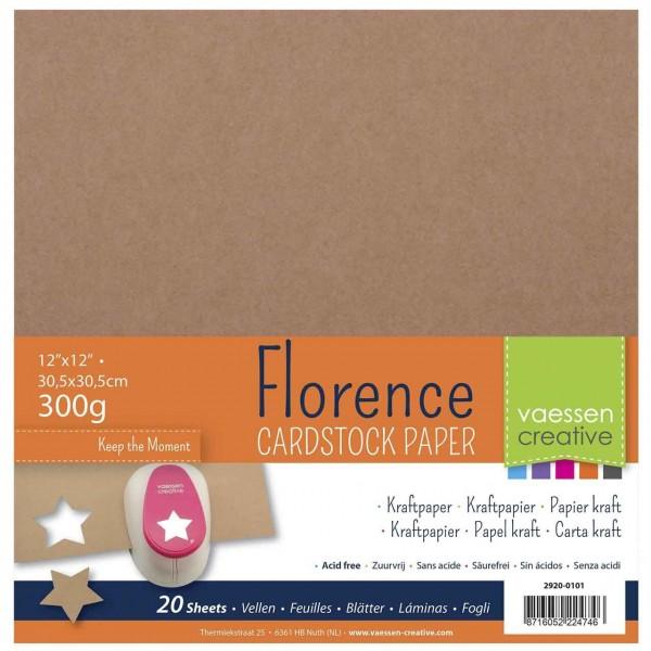 20-er Pack Florence Cardstock Kraftpapier 12 inch