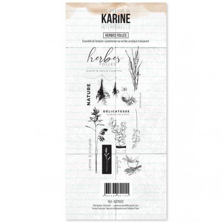 Les Ateliers de Karine Intemporelle Clearstempel - Herbes Folles