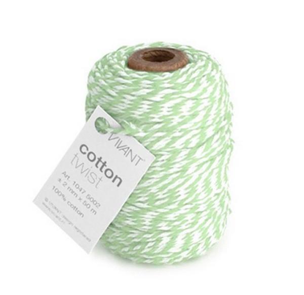 Cotton twist Kordel mint/weiß