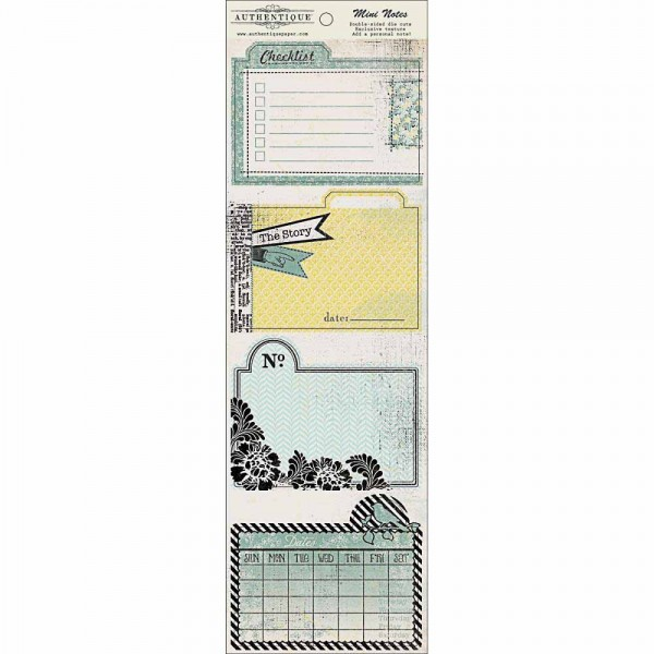Authentique Renew double-sided die cuts Mini Notes