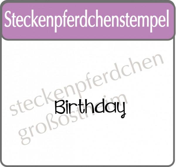 Steckenpferdchenstempel Birthday