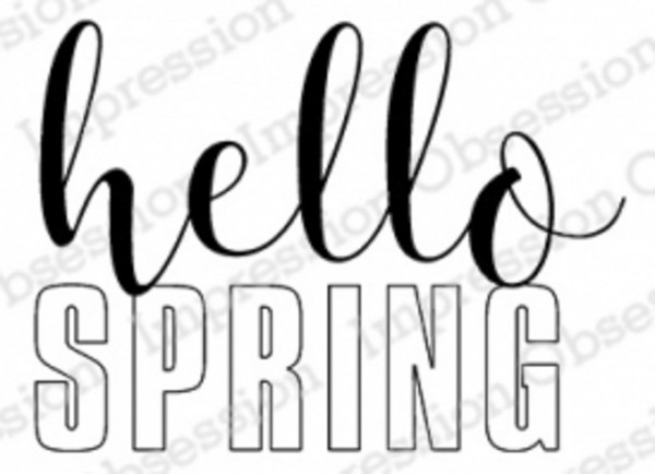 Impression Obsession Holzstempel Hello Spring