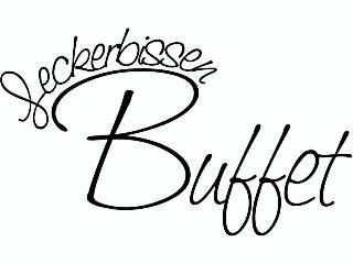Holzstempel Leckerbissen Buffet