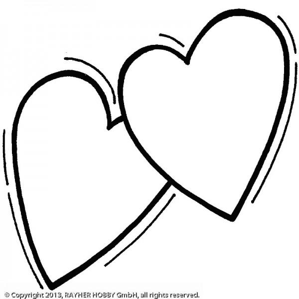 Butterer Holzstempel 2 Herzen