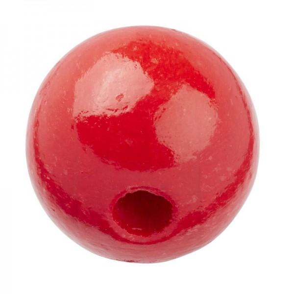 Schnulli Holzperlen 12 mm rot