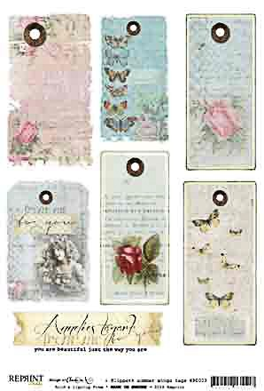 Reprint Klippark summer wings tags