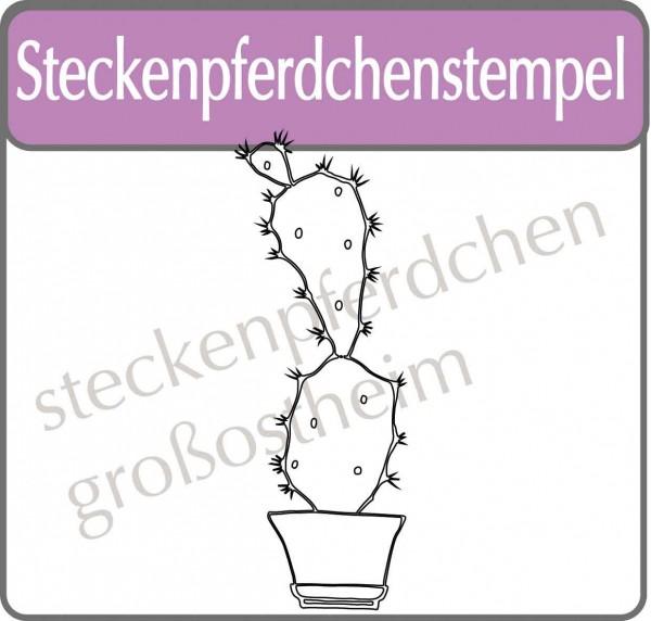 Steckenpferdchenstempel Kaktus xl 2